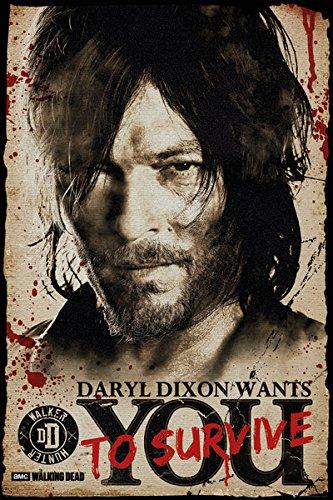 『シーズン8』放送記念 WALKING DEAD ウォーキングデッド - Daryl Needs You / ポスター 【公式 / オフィシャル】