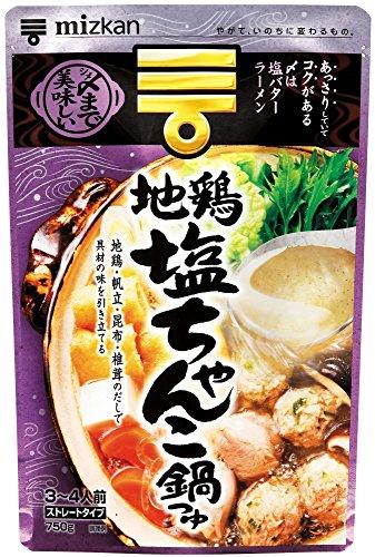ミツカン 地鶏塩ちゃんこ鍋つゆ ストレート 750g