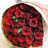 [エルフルール]彼女への贈り物には真っ赤なバラを♪ バラの花束 30本 カラー:レッド 結婚記念日 プレゼント 薔薇 誕生日祝い 贈り物