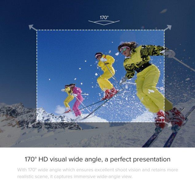 uvistar ELE ウェアラブルカメラ スポーツカメラ 30メートル防水 170度広角レンズ WIFI搭載 超高画質16MP 4K 1080P (ブラック)