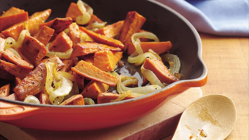 Country living editors select each product featured. Sweet Potato Home Fries Recipe Bettycrocker Com