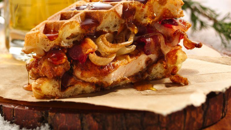 Mantastic Fried Chicken and Waffle Sandwich Recipe - BettyCrocker.com