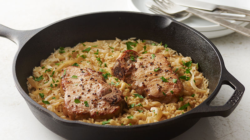 Smothered Pork Chops Dish