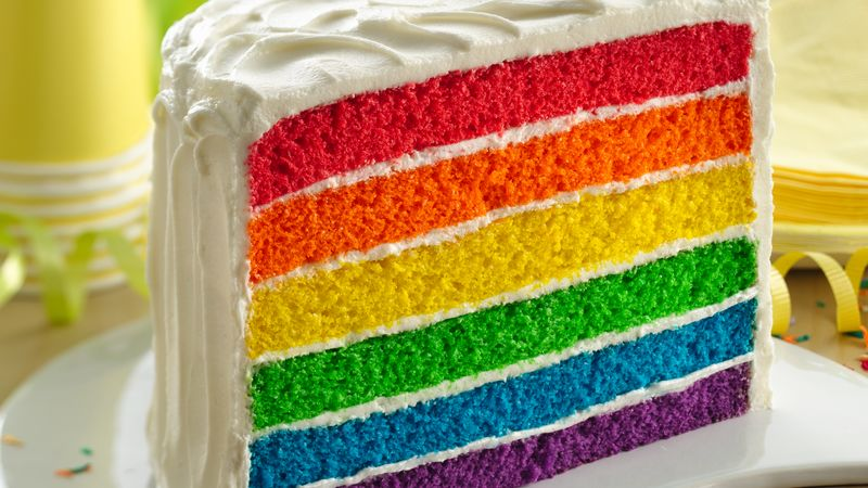 Rainbow Layer Cake Recipe Bettycrocker Com