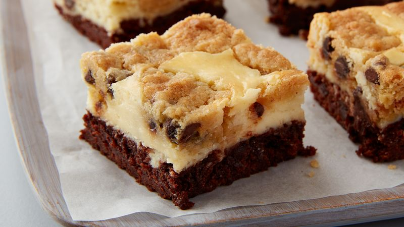 Cookies And Milk Cheesecake Brownie Bars Recipe From Betty