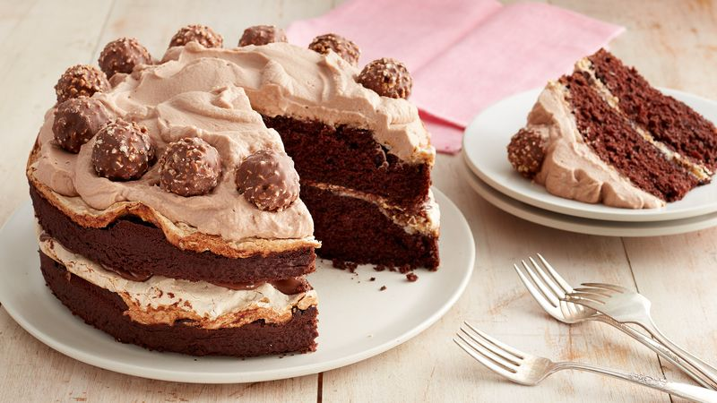 Chocolate Hazelnut Meringue Layer Cake Recipe From Betty