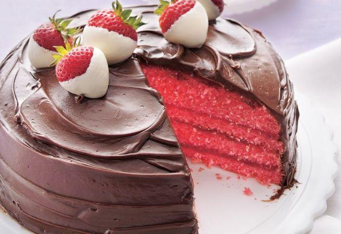 Chocolate Covered Strawberry Cake Recipe Bettycrockercom