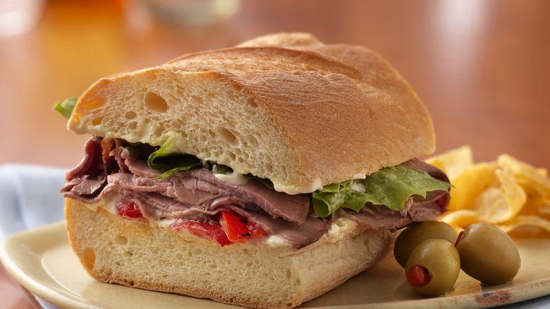 [Efrain Jesus Rojas Mata]: Roast beef sandwich