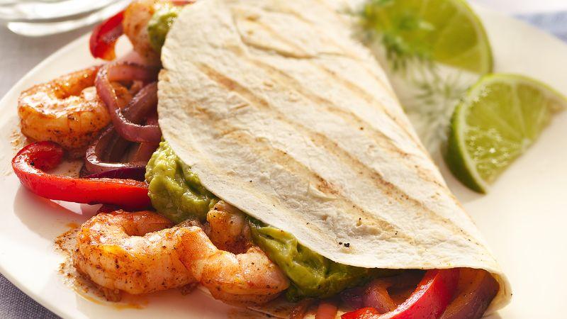 Grilled Shrimp Fajitas