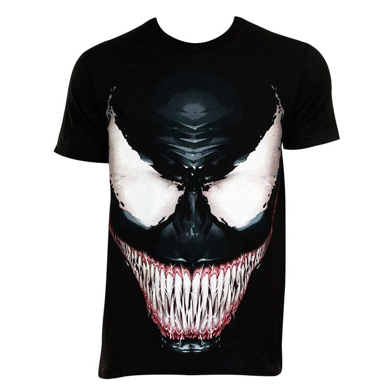 Venom Mens Black Sinister Smile T Shirt