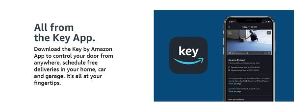Schedule free deliveries in your home, car, and garage with the Key app.