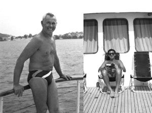 Carson and Bushkin on a cruise