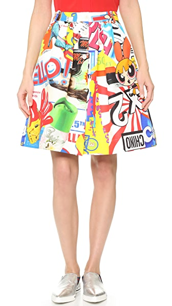 Moschino Printed Skirt - Multi