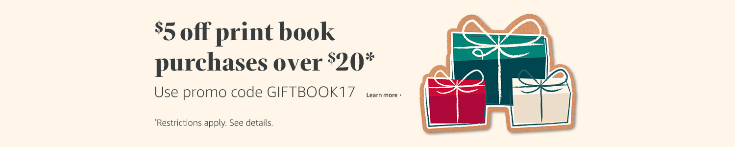 Get $5 off book purchases over $20*