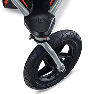 bob, revolution, duallie, jogging, stroller, swivel, front, wheel