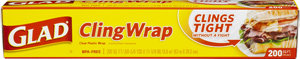 Glad Cling Wrap Plastic Wrap, 200-Square-Foot Rolls (Pack of 12) Product Shot