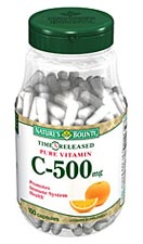 Nature's Bounty Pure Vitamin C-500 mg Time Released (100 Capsules)