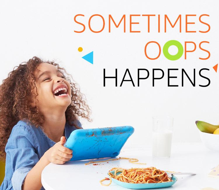 Sometimes oops happens  All-New Fire 7 Kids Edition Tablet, 7″ Display, 16 GB, Blue Kid-Proof Case feature Oops mobile v4