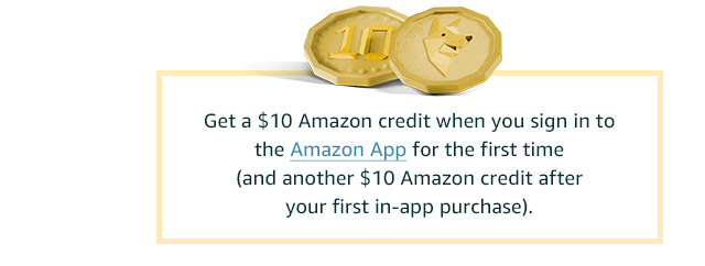 Sign into the Amazon app and get a discount