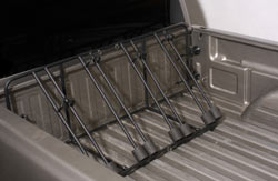 The Heininger Advantage BedRack Truck 4 Bike Carrier installed in a truck bed