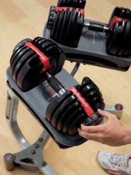 Change the dumbbell's weight