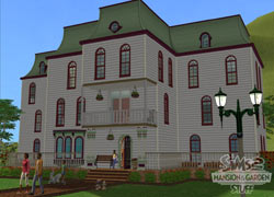 A mansion from The Sims 2 Mansion & Garden Stuff Pack