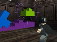 Harry moving blocks LEGO video game style in LEGO Harry Potter: Years 1-4