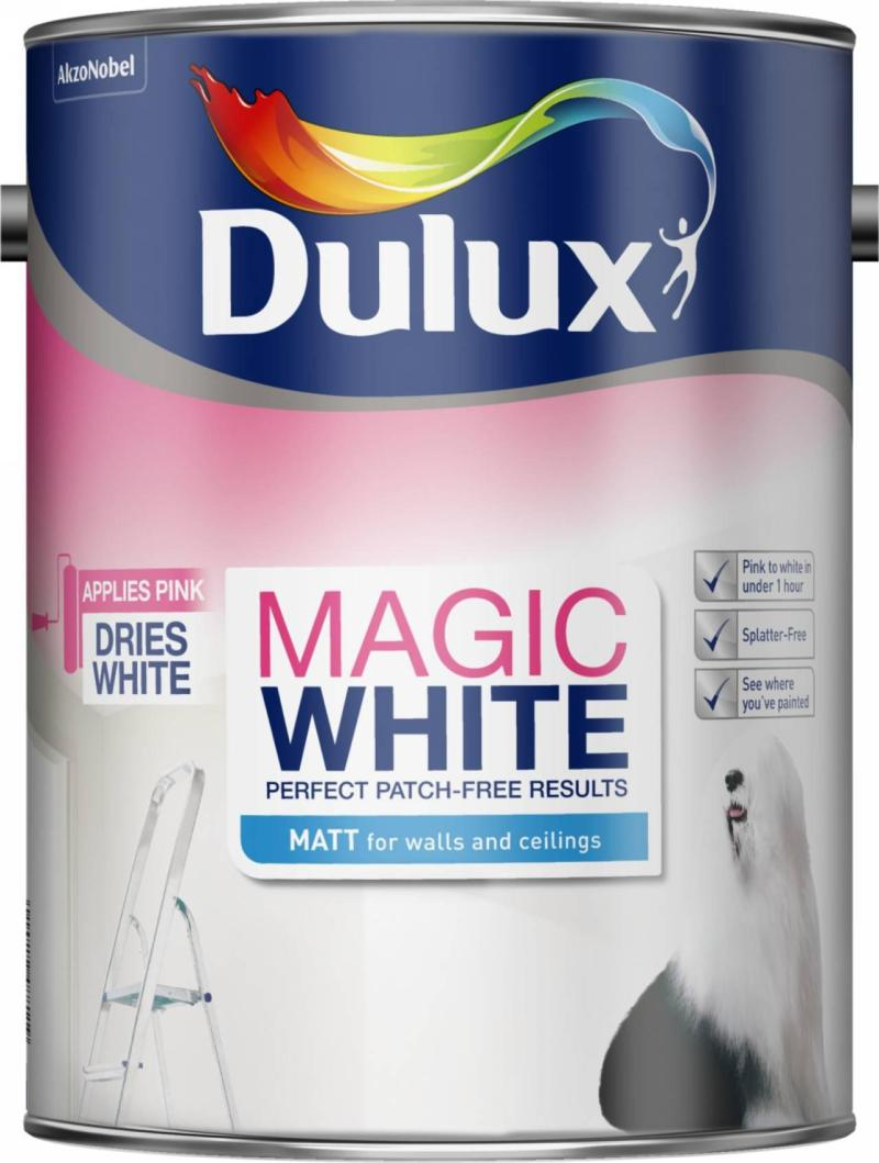 Dulux Pure Brilliant White Matt Emulsion Paint  L Uk