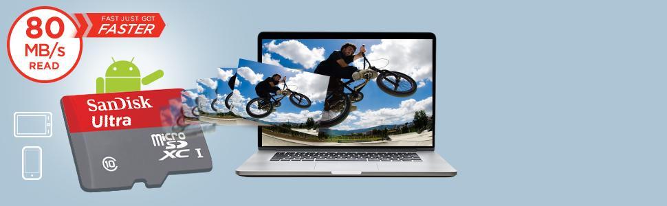 Schnell ist jetzt noch schneller - SanDisk Ultra microSDHC/ microSDXC UHS-I Speicherkarte