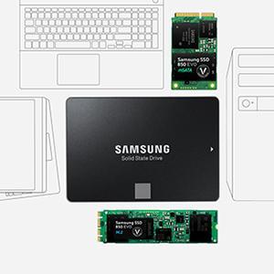 Verschiedene Formfaktoren - Samsung 850 EVO 500GB Starter Kit