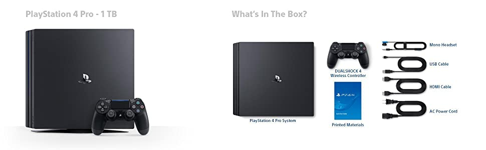 Lieferumfang - Sony Playstation 4 Pro 1TB