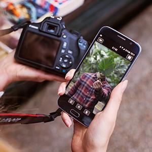 WLAN, NFC, Konnektivität via App - die Canon EOS 1300D Spiegelreflexkamera