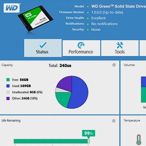 Kostenloses WD SSD Dashboard - WD Green SSD