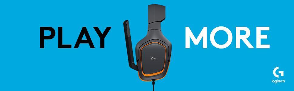 Play More - Logitech G231 Prodigy-Gaming Stereo Kopfhörer