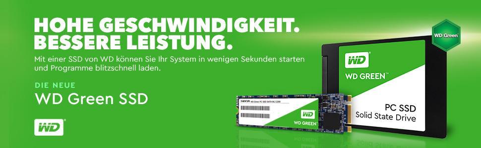 Hohe Geschwindigkeit. Bessere Leistung. WD Green SSD