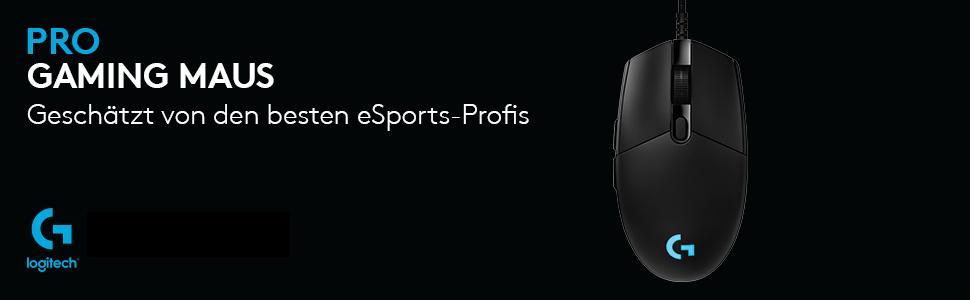 Geschätzt von den besten eSports-Profis - Logitech G Pro Gaming-Maus