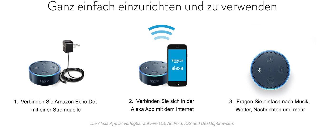 Einfach einzurichten und zu verwenden - Amazon Echo Dot