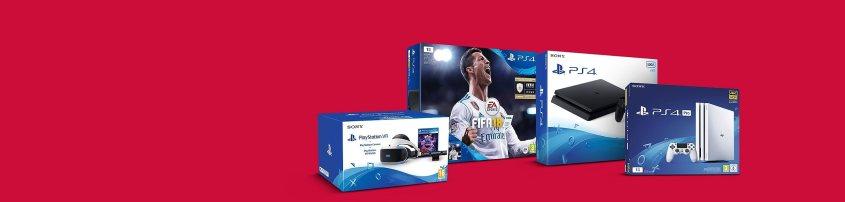 Promotion sur les packs PS4 Slim, Pro et PS VR à partir de 249.99€