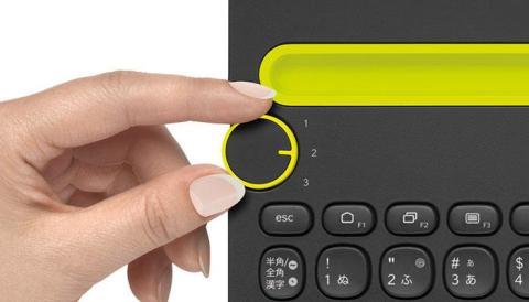 Logicool K480BK Bluetoothデバイスの切り替えダイヤル