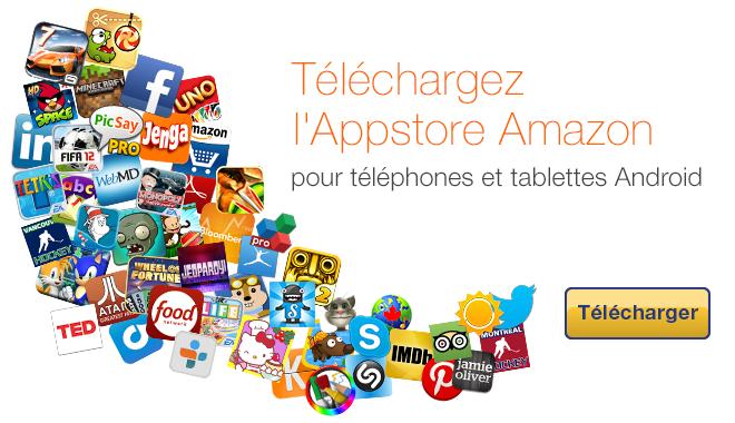 l'Appstore Amazon pour Android