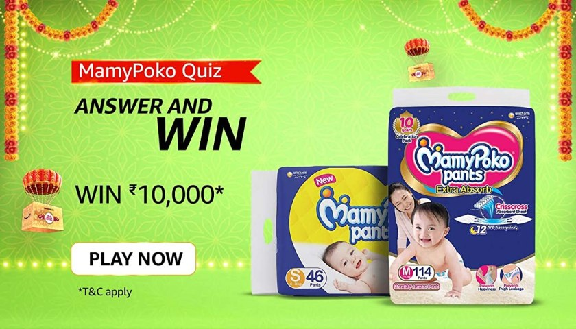 MamyPoko Pants was the _______ brand to launch pant style diapers in India. Fill in the blanks