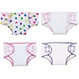 XADP 4 Sets Doll Diapers Doll Underwear Set for 14 Inch to 18 Inch Baby Dolls ,18 Inch American Girl Doll, and Other Similar Dolls