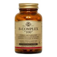 "Solgar – B-Complex ""100"" Vegetable Capsules – Promotes Energy Metabolism"