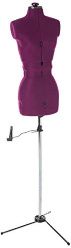 Dritz 20200 My Double Dressform with Tri-Pod Stand Adjustable Up to 63' Shoulder Height, Medium, Plum