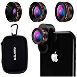 NELOMO Professional HD Camera Lens Kit Compatible with IPhone XS XR X 8 7 Plus Samsung S9 Plus S8 S7 LG Google Pixel 3 2 2XL Cellphones Fisheye Lens Wideangle Macro Lens(Upgrade)