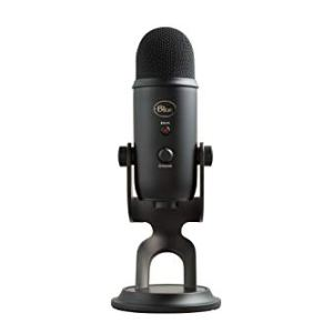 Blue Yeti USB Mic for Recording & Streaming on PC and Mac, 3 Condenser Capsules, 4 Pickup Patterns, Headphone Output and…