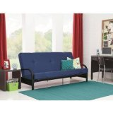 """Product review for Mainstays Black Metal Arm Futon with 6"""" Mattress, Multiple Colors (Blue)"""