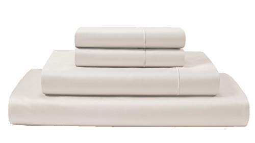 CHATEAU HOME COLLECTION 800-Thread-Count Egyptian Cotton Deep Pocket Sateen Weave Sheet Set, Ultimate Gift; Holiday Sale (Split King, Ivory)