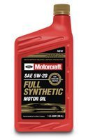 Motorcraft Full Synthetic Motor Oil XO-5W20-QFS 12 Qt Case