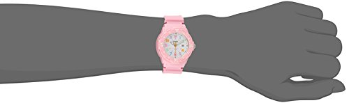 Casio Girls's LRW-200H-4B2VCF Pink Stainless Metal Watch with Resin Band deal 50% off 219OdXA519L